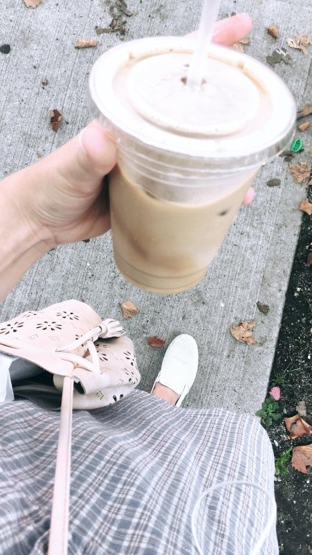 iced oat-milk latte, always
